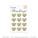 These Days Gold Glitter Puffy Hearts - Cocoa Vanilla Studio