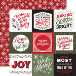 4X4 Journaling Cards Paper - Salutations Christmas - Echo Park - PRE ORDER