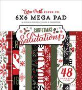 Salutations Christmas Cardmakers 6x6 Mega Pad - Echo Park - PRE ORDER