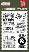 Happy Holidays To You Stamp Set - Salutations Christmas - Echo Park