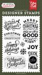 Santa Claus Stamp Set - Salutations Christmas - Echo Park