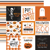 4x4 Journaling Cards Paper - Halloween Party - Echo Park