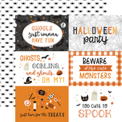 6x4 Journaling Cards Paper - Halloween Party - Echo Park