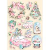 Christmas Rose Colored Wooden Frame - Stamperia - PRE ORDER