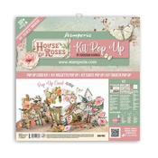 House of Roses Pop Up Card Kit - Stamperia