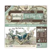Voyages Fantastiques Pop Up Card Kit - Stamperia