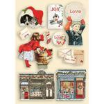 Romantic Christmas Colored Wooden Frame - Stamperia - PRE ORDER