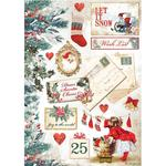 Let It Snow Cards Rice Paper - Romantic Christmas - Stamperia