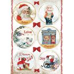 Rounds Rice Paper - Romantic Christmas - Stamperia