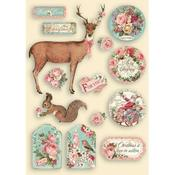 Pink Christmas Colored Wooden Frame - Stamperia - PRE ORDER