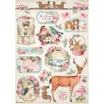 Deer Rice Paper - Pink Christmas - Stamperia