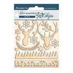 Deer Decorative Chips - Pink Christmas - Stamperia - PRE ORDER