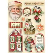 Classic Christmas Colored Wooden Frame - Stamperia - PRE ORDER