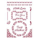 Best Wishes Stencil - Classic Christmas - Stamperia - PRE ORDER