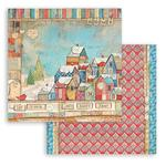 Houses Paper - Christmas Patchwork - Stamperia