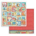 Advent Calendar Paper - Christmas Patchwork - Stamperia - PRE ORDER