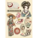 Lady Colored Wooden Frame - Sir Vagabond In Japan - Stamperia - PRE ORDER