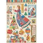 Elements Rice Paper - Christmas Patchwork - Stamperia