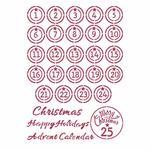 Advent Stencil - Christmas Patchwork - Stamperia - PRE ORDER