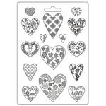 Hearts A4 Soft Mould - Christmas Patchwork - Stamperia