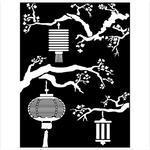 Lanterns Stencil - Sir Vagabond In Japan - Stamperia - PRE ORDER