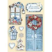 Door and Window Colored Wooden Frame - Winter Tales - Stamperia