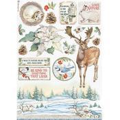 Poinsettia Rice Paper - Winter Tales - Stamperia