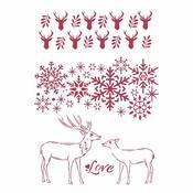 Love Stencil - Winter Tales - Stamperia