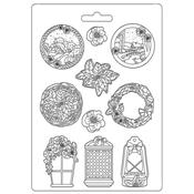Garland A4 Soft Mould - Winter Tales - Stamperia