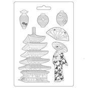 Pagoda A4 Soft Mould - Sir Vagabond In Japan - Stamperia - PRE ORDER