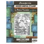 Pagoda Mixed Media Stamp - Sir Vagabond In Japan - Stamperia