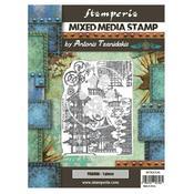 Pagoda Mixed Media Stamp - Sir Vagabond In Japan - Stamperia - PRE ORDER