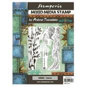 Bamboo Mixed Media Stamp - Sir Vagabond In Japan - Stamperia - PRE ORDER