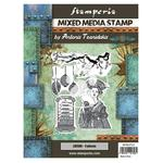Lantern Mixed Media Stamp - Sir Vagabond In Japan - Stamperia