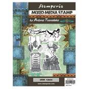 Lantern Mixed Media Stamp - Sir Vagabond In Japan - Stamperia - PRE ORDER