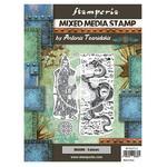 Dragon Mixed Media Stamp - Sir Vagabond In Japan - Stamperia