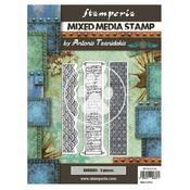 Borders Mixed Media Stamp - Sir Vagabond In Japan - Stamperia - PRE ORDER
