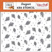 Brisk Leaves Stencil - Fall - Echo Park