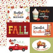 6X4 Journaling Cards Paper - Welcome Autumn - Carta Bella