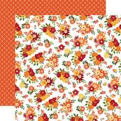 Fall Floral Paper - Welcome Autumn - Carta Bella