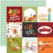 4X4 Journaling Cards Paper - Welcome Autumn - Carta Bella