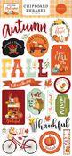 Welcome Autumn 6x13 Chipboard Phrases - Carta Bella