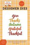 Thankful Autumn Word Die Set - Welcome Autumn - Carta Bella