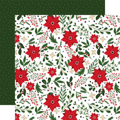 Christmas Flowers Paper - Jingle All The Way - Echo Park