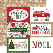 6x4 Journaling Cards Paper - Jingle All The Way - Echo Park