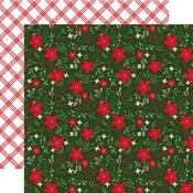 Festive Floral Paper - Jingle All The Way - Echo Park