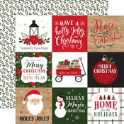 4x4 Journaling Cards Paper - Jingle All The Way - Echo Park