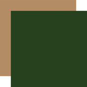 Dk. Green / Tan Coordinating Solid Paper - Jingle All The Way - Echo Park