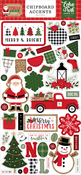 Jingle All The Way 6x13 Chipboard Accents - Echo Park