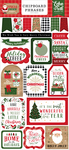 Jingle All The Way 6x13 Chipboard Phrases - Echo Park
